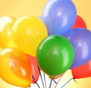 Воздушные шарики на палочке с рисунком