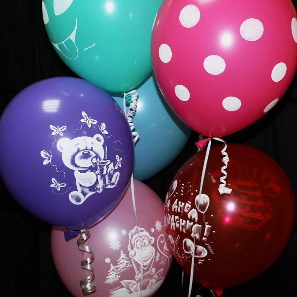 Воздушные шарики с рисунком